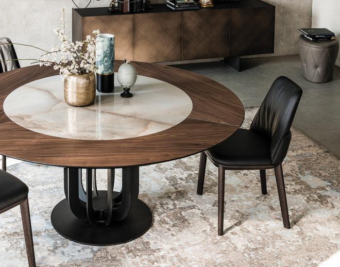 cattelan italia tavolo planer round misura arredamenti