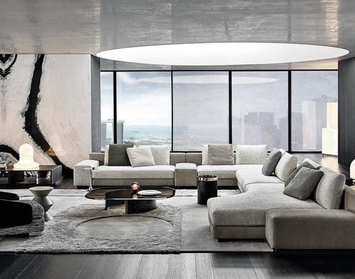 minotti divano daniels misura arredamenti