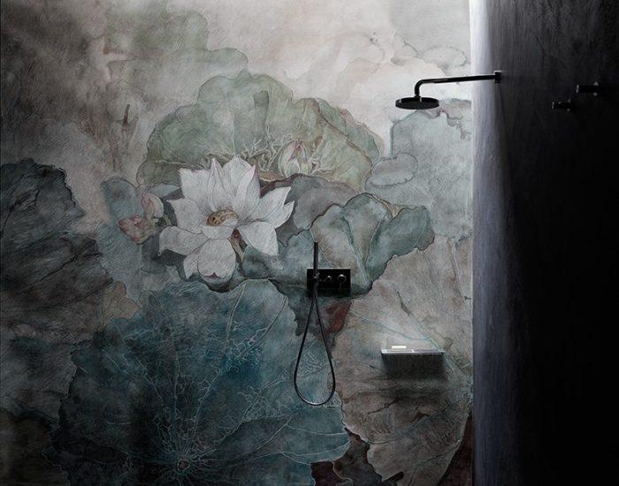 wall_deco cartadaparati floreale misura arredamenti